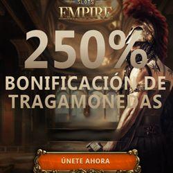 logo de 250% EN TRAGAMONEDAS SLOTS EMPIRE