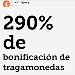 logo de BONO 290% RICH PALMS CASINO