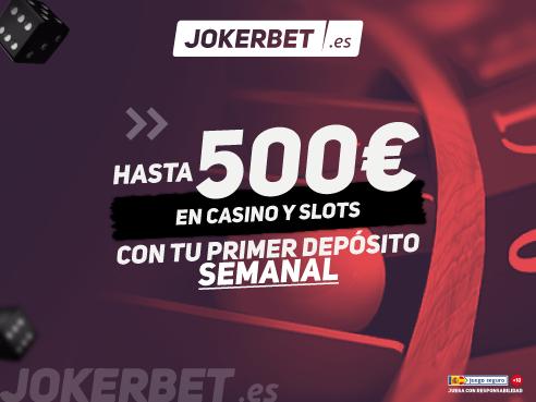 logo de 50% PRIMER DEPOSITO SEMANAL JOKERBET