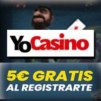 logo de 5€ GRATIS YOCASINO