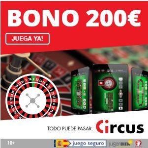 logo de BONO 50% HASTA 200€ CIRCUS CASINO