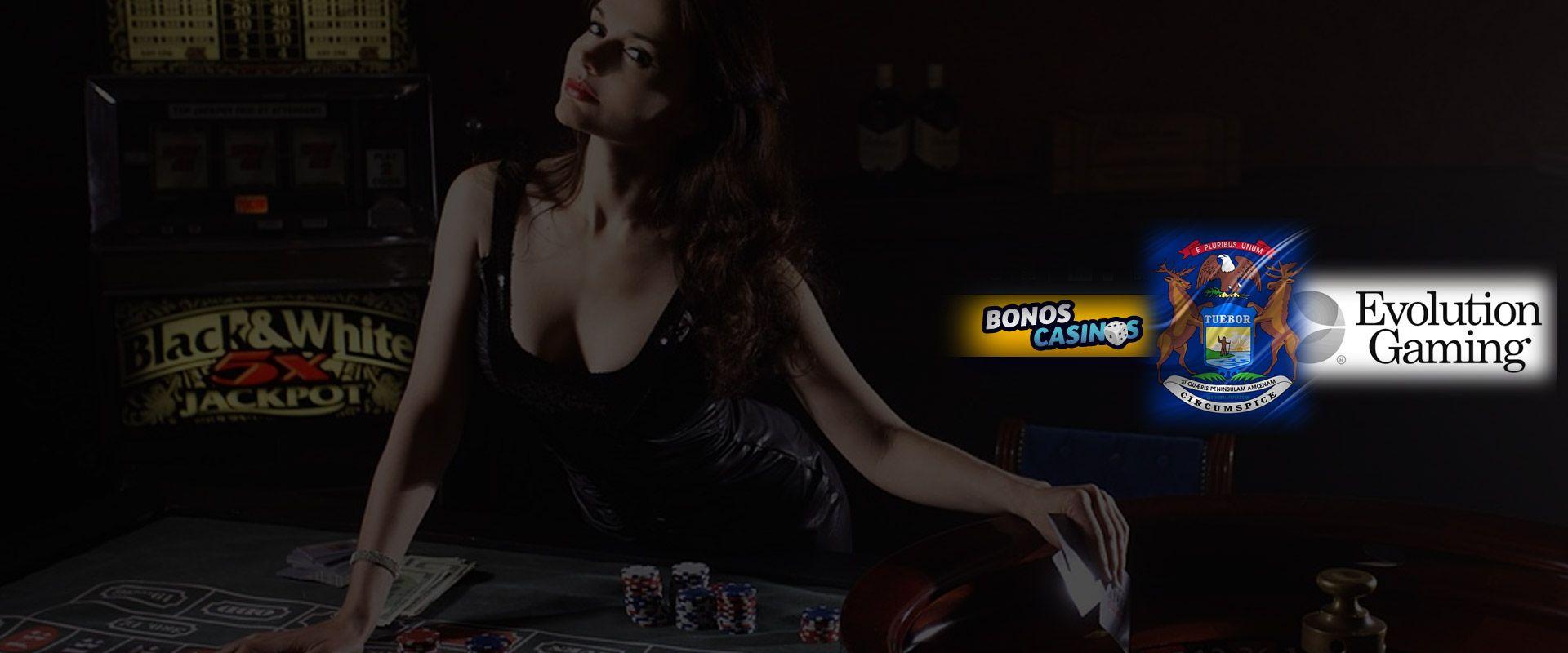 logo de Michigan listo para el estreno de nuevo casino en vivo de Evolution