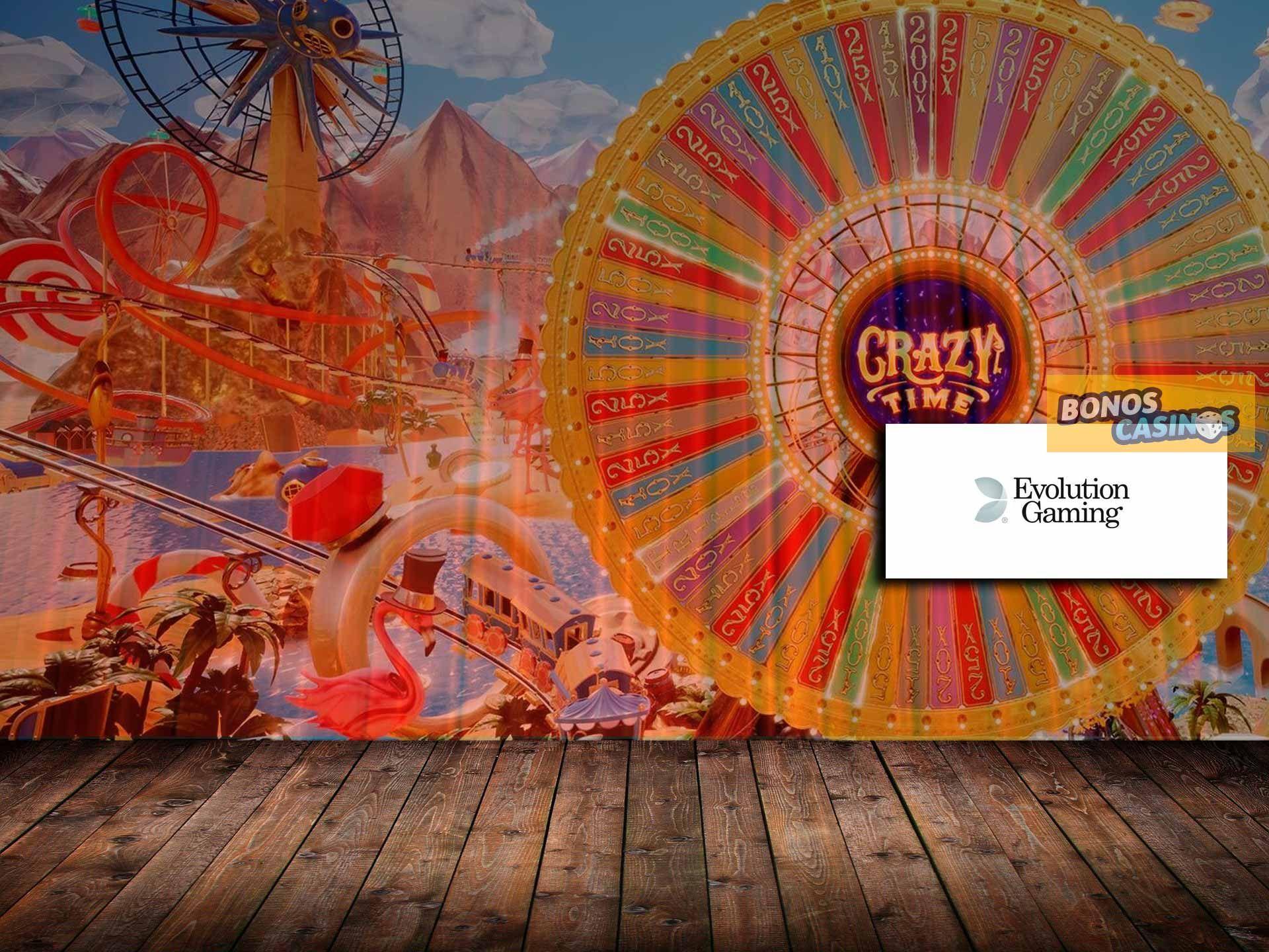 logo de Evolution Gaming hace público su nuevo lanzamiento, Crazy Time