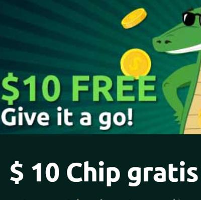 logo de 10$ GRATIS PLAYCROCO CASINO