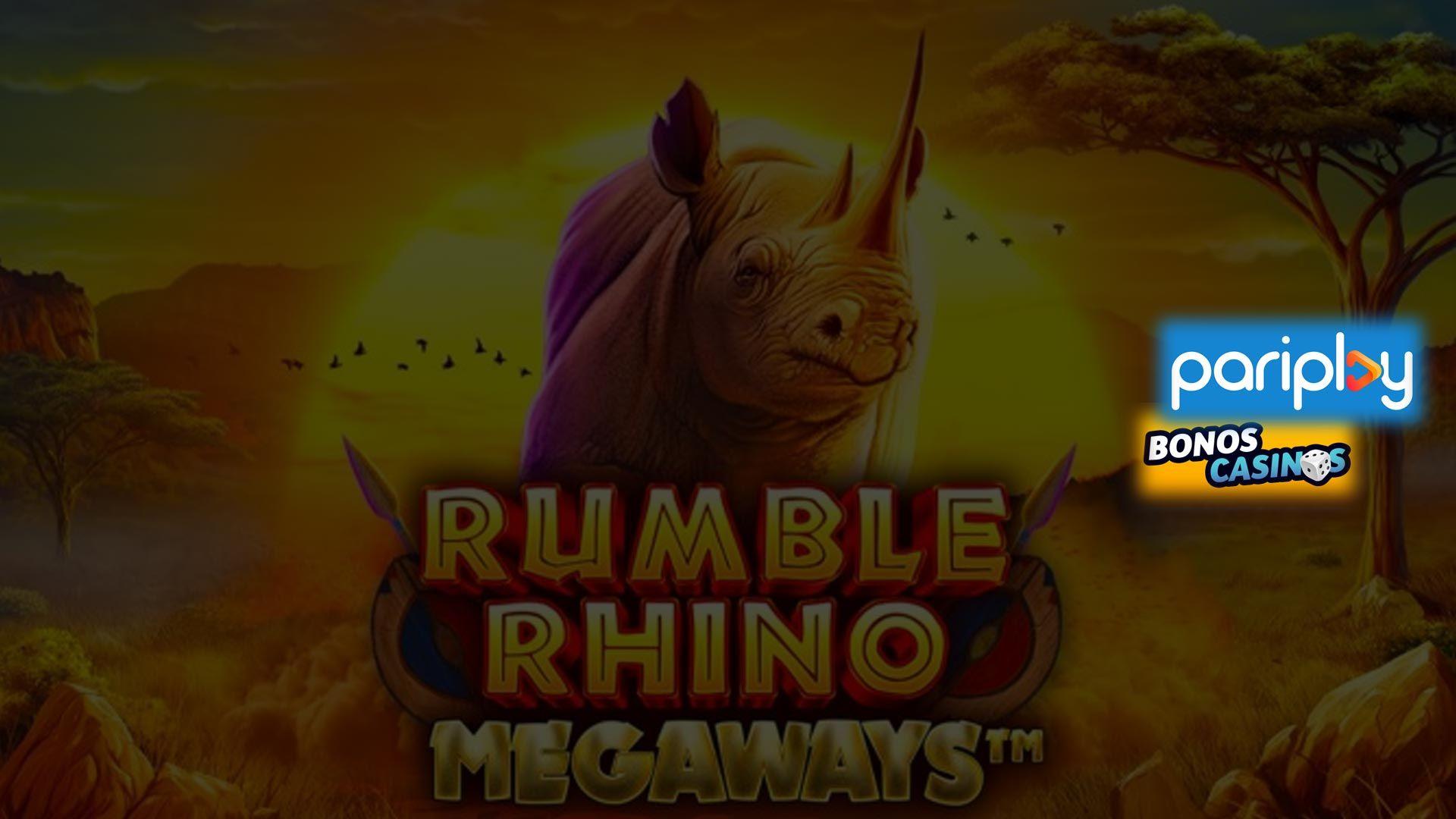 logo de Rumble Rhino Megaways ahora disponible en Pariplay