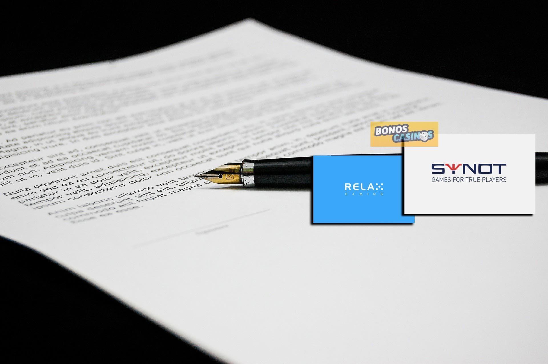 logo de La plataforma en línea de Relax Gaming innova su contenido con SYNOT Games