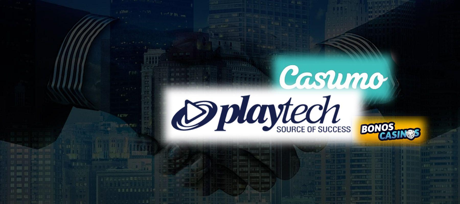 logo de Playtech enriquece la cartera de Casumo