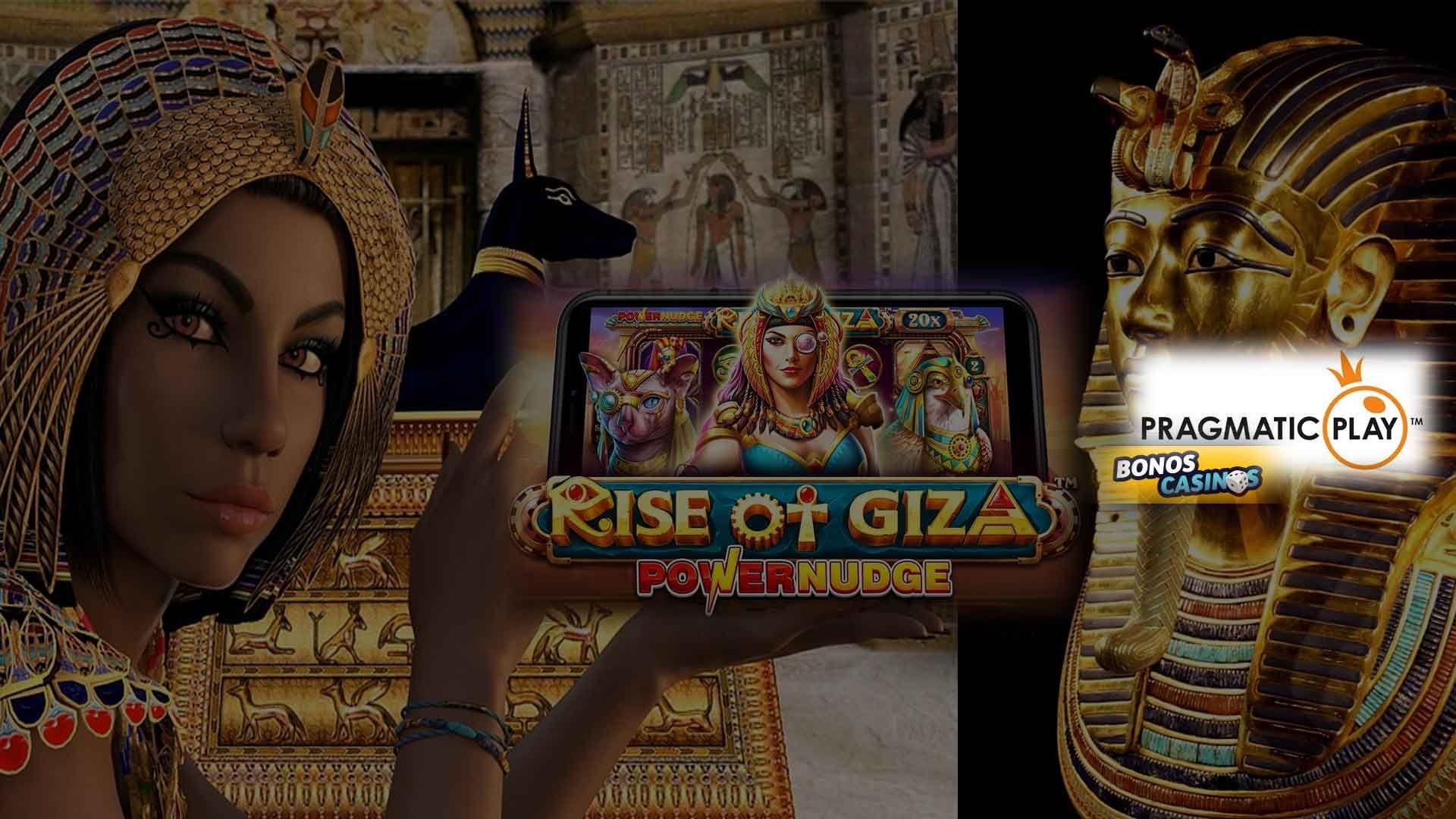 logo de Rise of Giza PowerNudge, tendencia del mercado iGaming