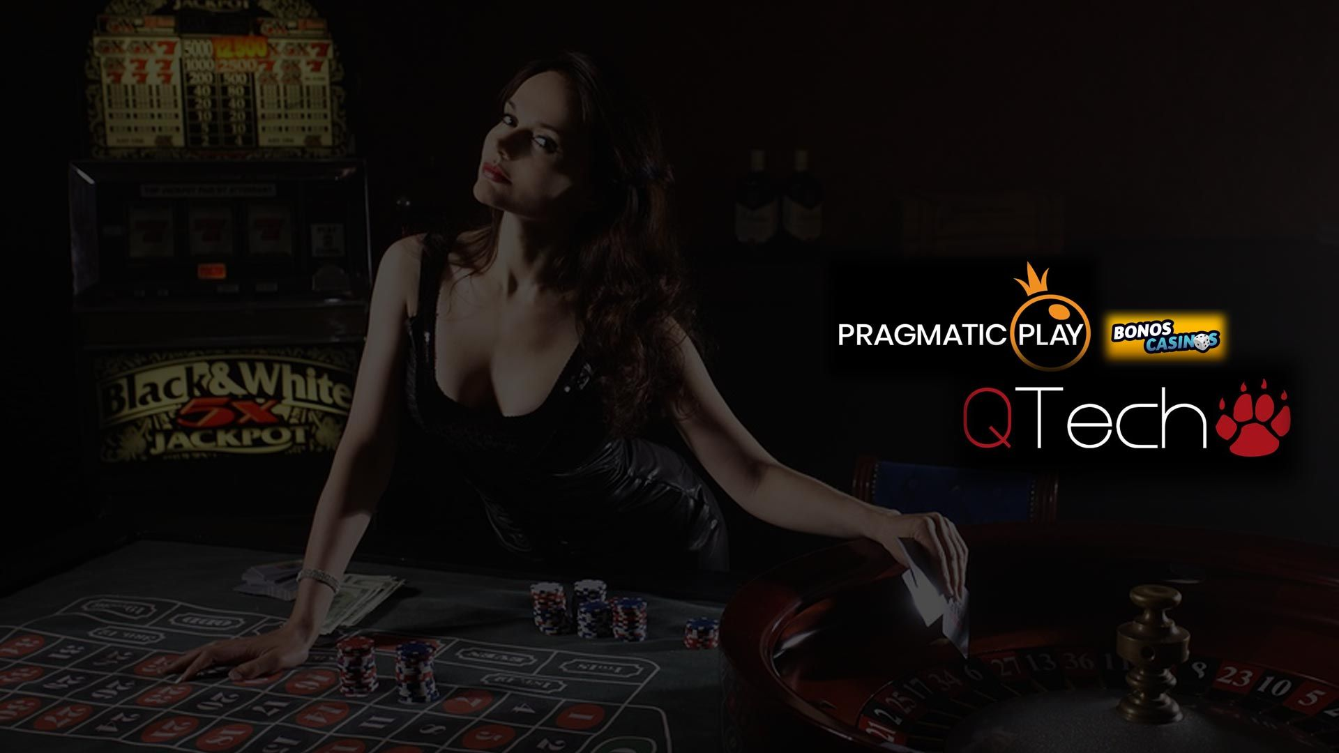 logo de QTech integra las tragamonedas y casino en vivo de Pragmatic Play