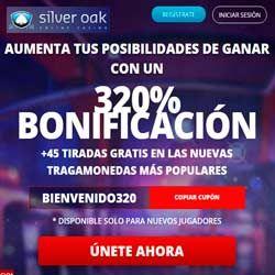 logo de BONO BIENVENIDA 320% SILVER OAK CASINO