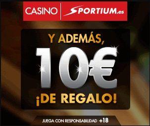 logo de 10€ GRATIS POR REGISTRO SPORTIUM CASINO