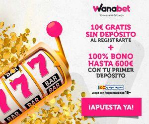 logo de 10€ GRATIS WANABET CASINO